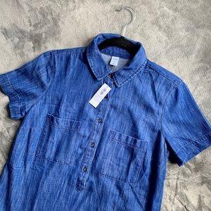 Old Navy   blue denim buttoned dress